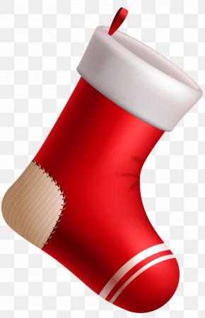 Christmas Red Stocking Clipart Image - Christmas Stocking Clip Art PNG
