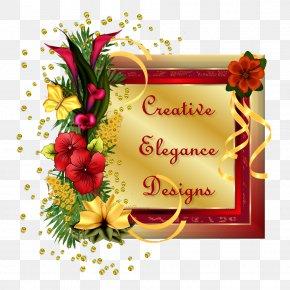 Golden Floral Deformation Creative Border Vector - Paper Floral Design Flower TinyPic PNG