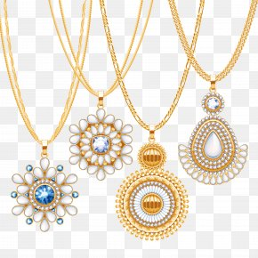 Luxury Diamond Gold Necklace - Euclidean Vector Necklace Gold Jewellery PNG