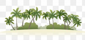 Coconut Grove Vector - Summer Vacation Beach Island PNG