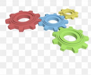 Different Colors Of 3D Gears - Gear 3D Computer Graphics Android Clip Art PNG