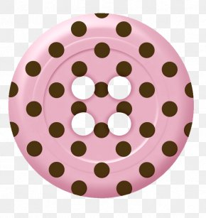 Pink Buttons Pattern - Pin-back Button Clip Art PNG