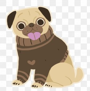 Vector Cartoon - Pug Puppy Dog Breed Pet Toy Dog PNG