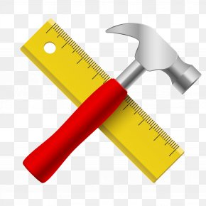 Ruler And Hammer - Hammer Ruler Icon PNG