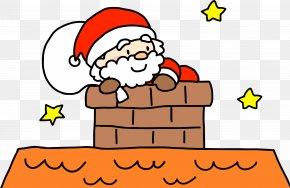 Santa Claus - Santa Claus Reindeer Illustration Christmas Day Chimney PNG