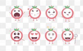 Apple Expression Package - Apple Cartoon Sticker PNG