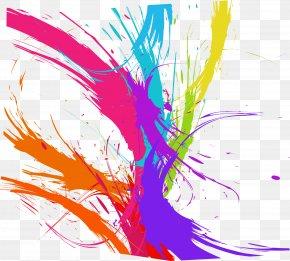 Colorful Paint Graffiti - Pigment Paint Graffiti PNG