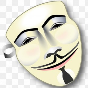 Mask Anonymous - Guy Fawkes Mask Anonymous Clip Art PNG