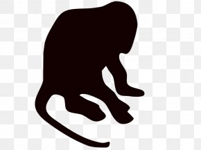Black Monkey - Silhouette Monkey Drawing PNG