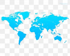 High-resolution World Map Background - Wall Decal World Map Sticker PNG