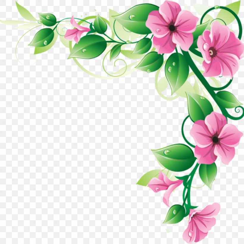 Clip Art Flower Picture Frames Image, PNG, 1024x1024px, Flower, Borders Clip Art, Botany, Branch, Flowering Plant Download Free