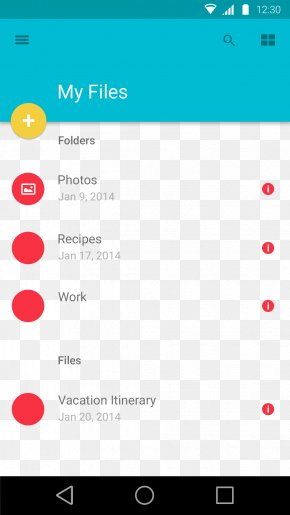 Simple Phone UI Prototype - Material Design Android User Interface Design PNG