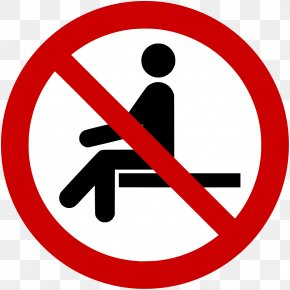 Prohibited - Sitting Sign No Symbol Safety Health PNG