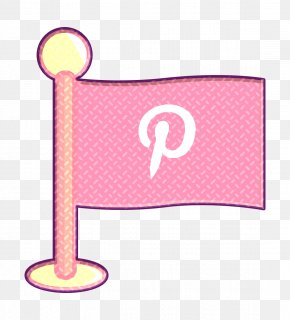 Pink Social Icon - Flag Icon Media Icon Networking Icon PNG