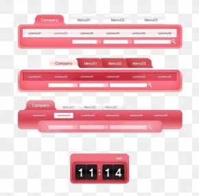 Pink Web Menu Navigation - Web Page Web Design Web Banner Button Icon PNG