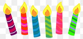 Pasties - Birthday Cake Candle Clip Art PNG