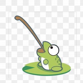Frog Tongue Hanging Out - Frog Cartoon PNG