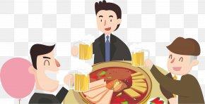 Hot Pot Drinking - Chongqing Hot Pot Malatang Illustration PNG