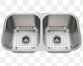 Stainless Steel Kitchenware - Kitchen Sink Stainless Steel Bowl PNG