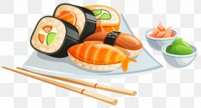 Sushi Clipart Image - Sushi Japanese Cuisine Clip Art PNG