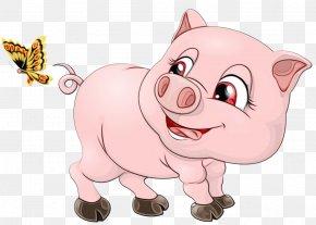 Livestock Nose - Cartoon Suidae Pink Snout Nose PNG