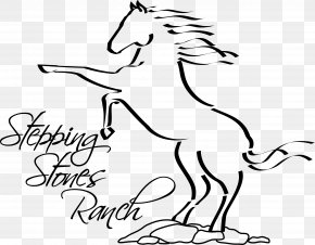 Horse Drawing Line Art - Clip Art Drawing Mustang Pony Line Art PNG