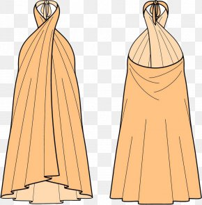 Yellow Yellow Dress - Gown Dress Skirt Illustration PNG