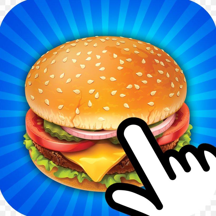 Hamburger Cheeseburger Fast Food Veggie Burger Hot Dog, PNG, 1024x1024px, Hamburger, American Food, Big Mac, Cheeseburger, Chef Download Free