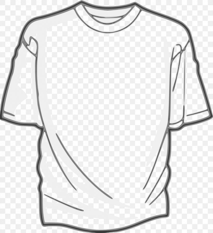 T-shirt Clip Art, PNG, 999x1090px, T Shirt, Area, Black, Black And White, Clothing Download Free