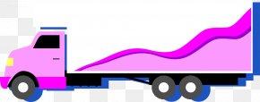 Purple Truck - Truck PNG