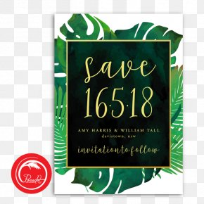 Save The Date Invitation - Wedding Invitation Marble Watercolor Painting PNG