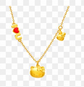Gold Necklace - Necklace Hello Kitty Chow Tai Fook Gold Jewellery PNG