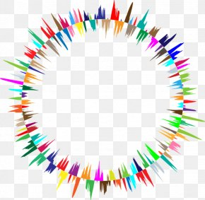 Prismatic Circle Colorful Combination PNG