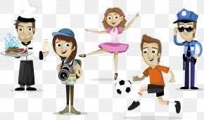 Vector Happy People - Animation Labor Photography Character Profession PNG