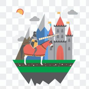Castle And Knight - Middle Ages Knight Castle PNG