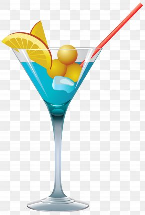 Cocktail - Cocktail Martini Blue Lagoon Clip Art PNG