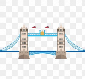 Tower Bridge Animation Figure Design - London Bridge LONDON TOWER BRIDGE Big Ben PNG
