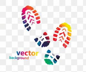 Colorful Footprints Creative - Shoe Footprint Sneakers Converse Clip Art PNG