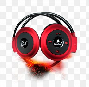 Flame Decoration Headset - Headphones Headset Download PNG