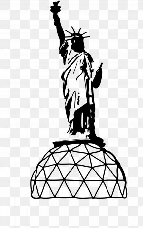 Statue Of Liberty - Statue Of Liberty Line Art Drawing PNG