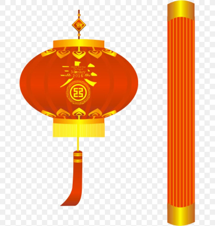 Chinese New Year Lantern Download, PNG, 671x863px, Chinese New Year, Lantern, Orange, Papercutting, Table Download Free
