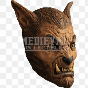 Wolf Mask - Latex Mask Werewolf Halloween Costume PNG