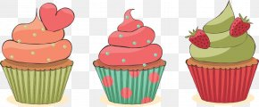 Cake - Cupcake Muffin Birthday Cake Frosting & Icing PNG