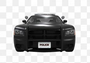 Black Police Car Front - Police Car Pickup Truck Black Vehicle PNG