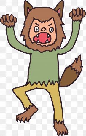 Cartoon Werewolf - Werewolf Big Bad Wolf Cartoon PNG