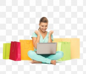 Laptop - Laptop Stock Photography Online Shopping Woman PNG