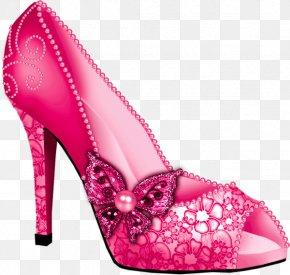 Red Slipper - Shoe High-heeled Footwear Slipper Clip Art PNG