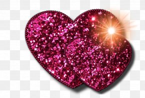 Images Of Pink Hearts - Heart Glitter Clip Art PNG