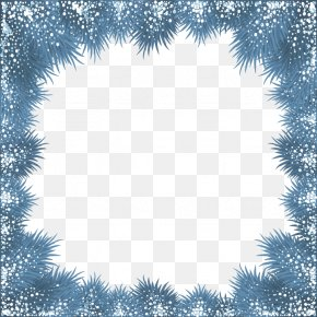 Abstract Branch Border Pattern - Christmas Snowflake Photography Illustration PNG