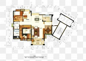 Household Apartment Plan - Floor Plan Page Layout PNG